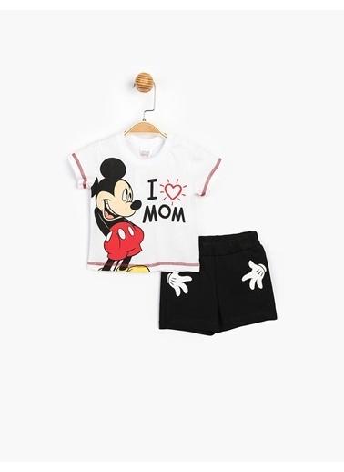 Mickey Mouse 2 li Takım Beyaz